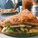 Foccacia Breakfast Sandwhich - <p>8.95 served with Homefries, check out menu for full description</p>