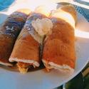 Three Little(huge) Pigs in a Blanket - <p>7.95, check out menu for full description</p>